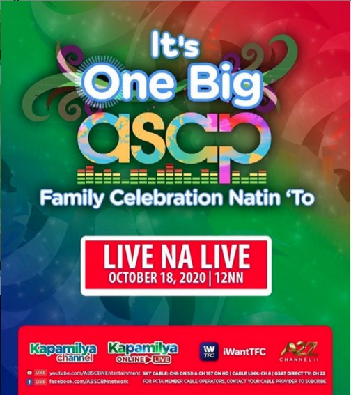 ASAP Natin To gives viewers one big family celebration to remember this Sunday 1