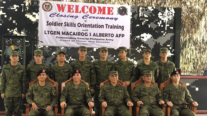 Kapamilya celebrities who have A Soldier s Heart as commissioned military reservists 2