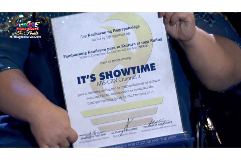It s Showtime honored by NCCA for championing Filipino arts and culture 1