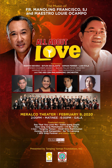 Louie Ocampo and Fr Manoling Francisco SJ s All About Love concert returns with Valentine performance  1