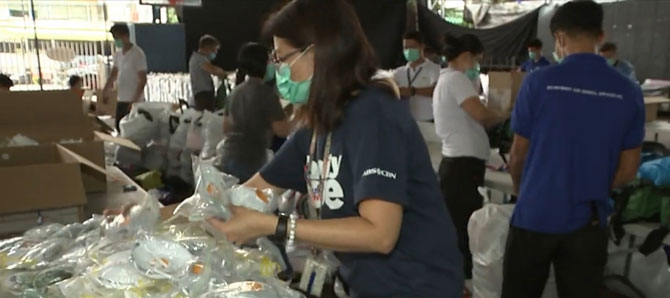 ABS CBN donates protective gears food to health workers 2