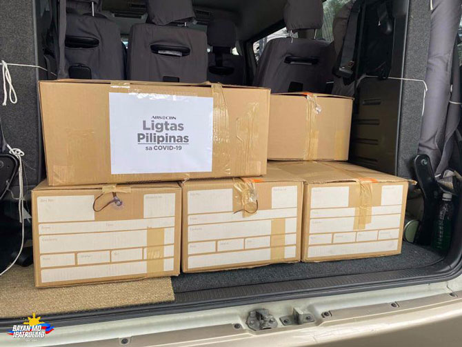 ABS CBN donates protective gears food to health workers 6