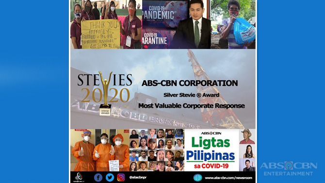 ABS CBN s COVID 19 response wins a Stevie at the 2020 International Business Awards 2