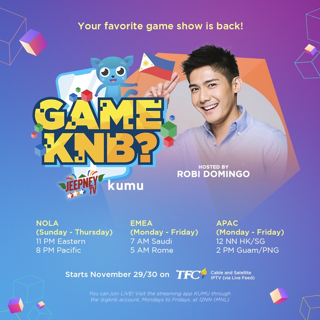 Philippines First Multi platform game show to be available worldwide 1