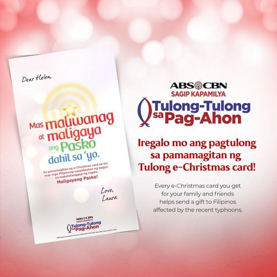 Spread light and joy through ABS CBN Foundation s Tulong E Christmas cards 1