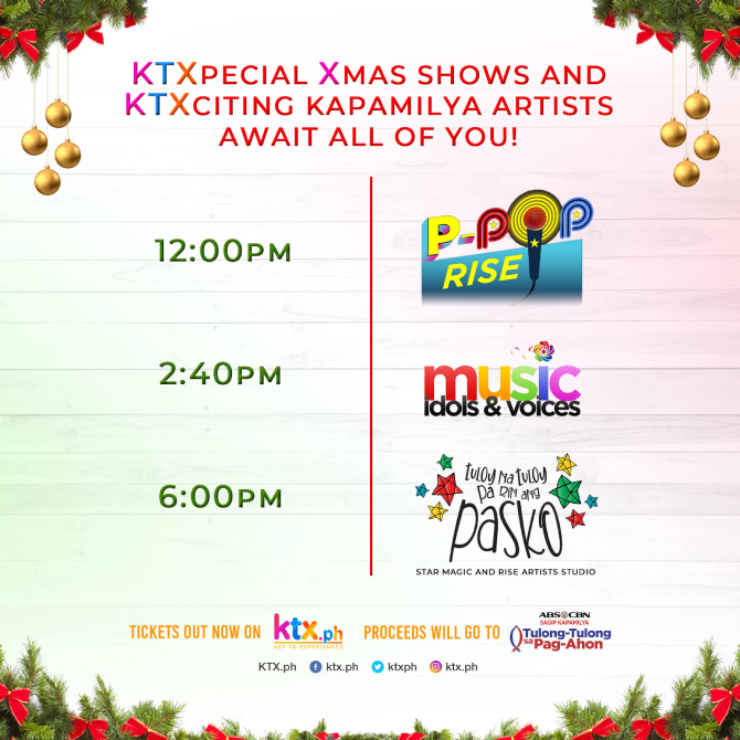 KathNiel MayWard LizQuen and other Kapamilya stars headline KTX PH s fundrasing pre show for ABS CBN Christmas Special 1
