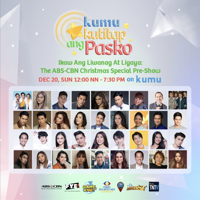ABS CBN Christmas Special pre show on KUMU Kumukutitap ang Pasko gathers over 100 stars for a cause 1