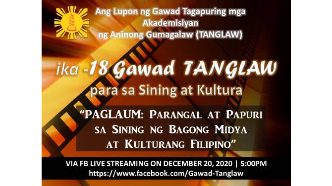 ABS CBN hailed as Best TV Station in the 18th Gawad Tanglaw 1