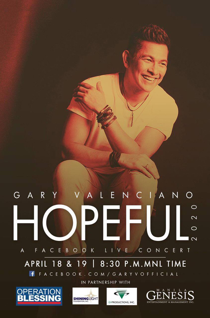 Gary V tallies Php6 8 million total donations for frontliners in Hopeful digital concert series 1