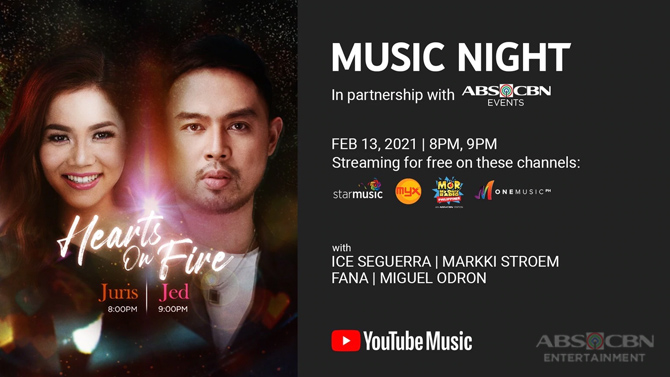YouTube ABS CBN Music to stage free Valentine s concerts featuring Jona Juris and Jed 2