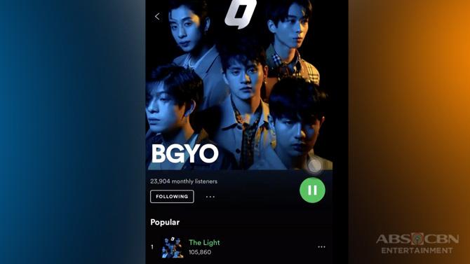 BGYO s debut single The Light surpasses 100 000 streams on Spotify 1