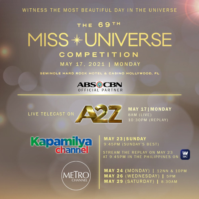 ABS CBN brings Miss Universe 2020 live on A2Z 1
