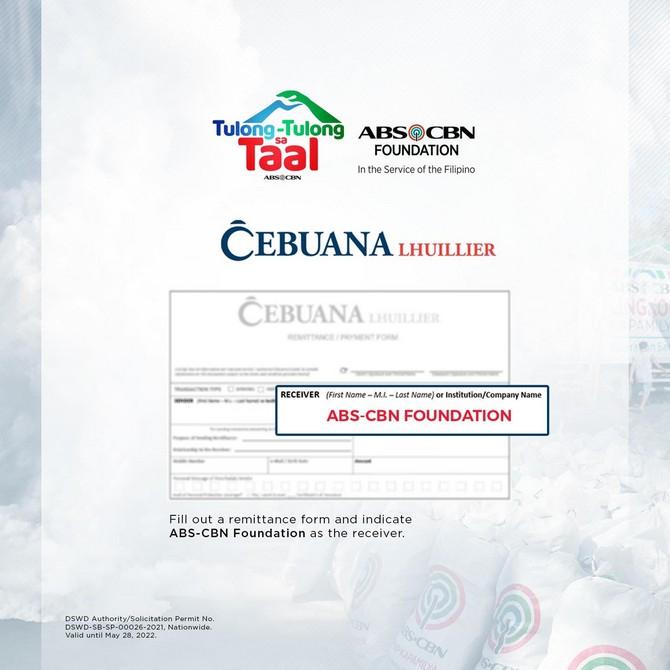 ABS-CBN Foundation Tulong-tulong sa Taal Cebuana Lhuillier