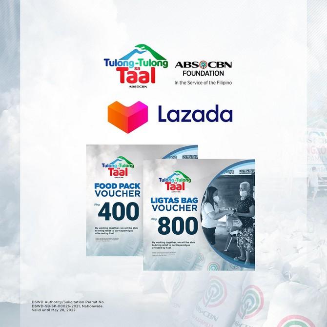 ABS-CBN Foundation Tulong-tulong sa Taal Lazada