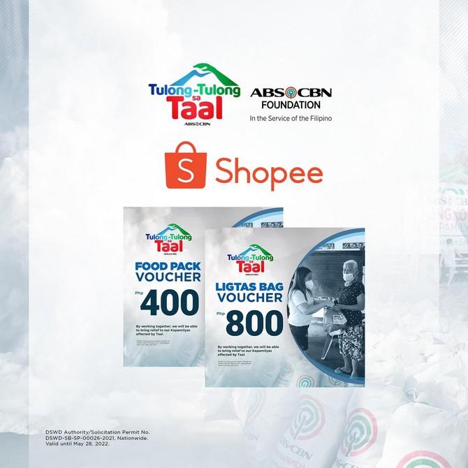 ABS-CBN Foundation Tulong-tulong sa Taal Shopee