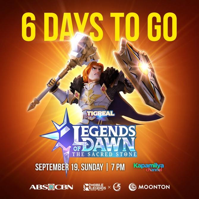 Tigreal Legends of Dawn Sacred Stone ML Countdown