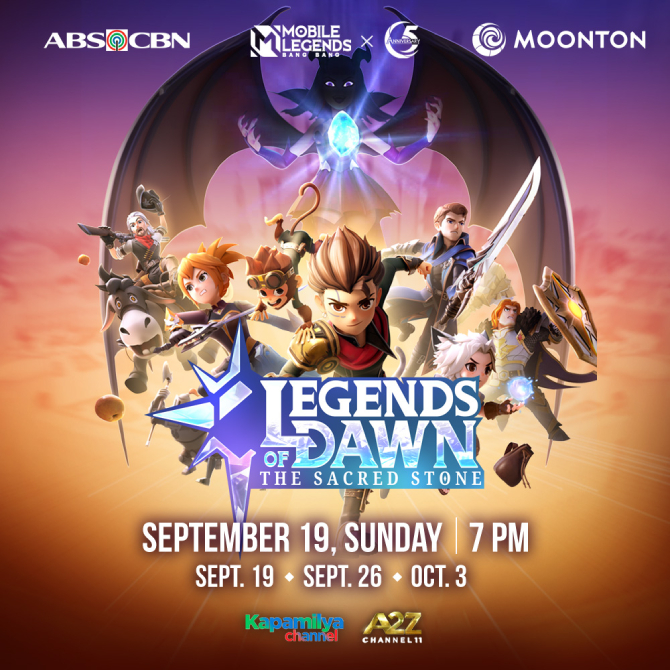 Legends of Dawn The Sacred Stone ng Mobile Legends mapapanood sa Kapamilya Channel at A2Z 1