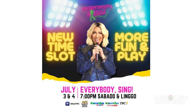More fun for everybody as Everybody Sing airs in new timeslot this Saturday and Sunday  1
