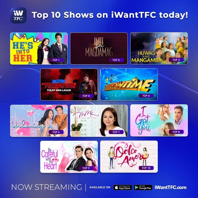 He s Into Her is number 1 show on iWantTFC for 4th straight week  1
