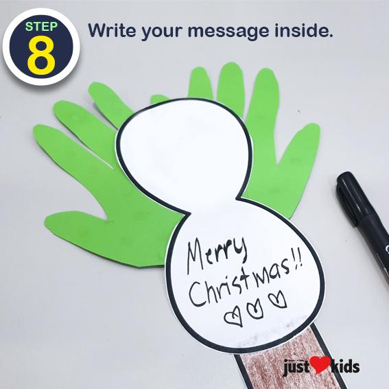 DIY Christmas Craft Hand Print Christmas Card 8