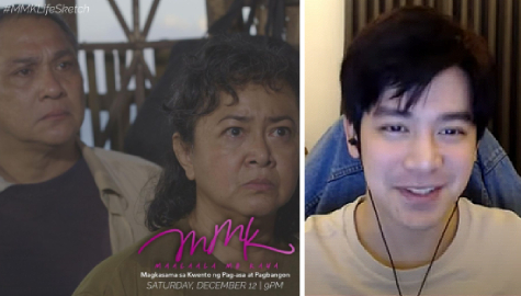 "Joshua Garcia grateful for MMK ""Life Sketch"" co-stars Nonie and Shamaine Buencamino, enjoyed 'new normal' taping"