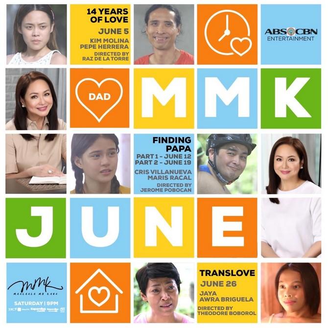 Maris Cris Pepe Kim Awra and Jaya headline MMK this June 1