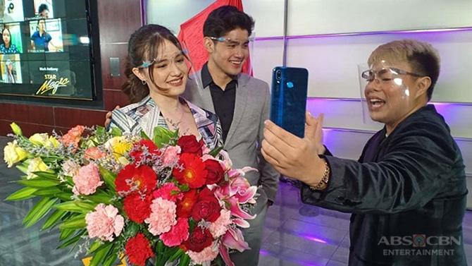 Kira Balinger gets kilig surprise from Ang Sa Iyo Ay Akin partner Grae Fernandez in Star Magic signing event 6