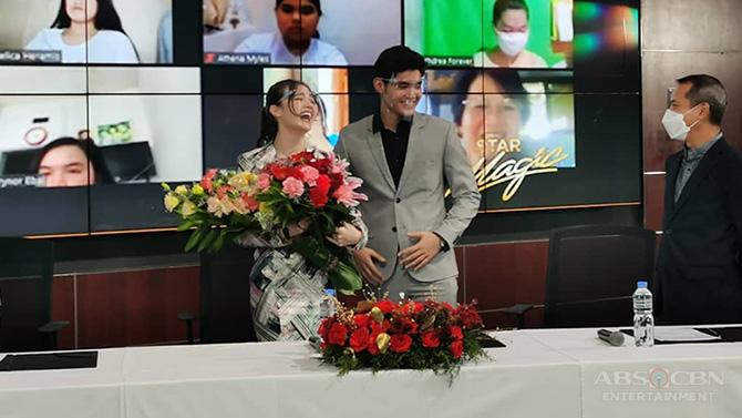 Kira Balinger gets kilig surprise from Ang Sa Iyo Ay Akin partner Grae Fernandez in Star Magic signing event 8