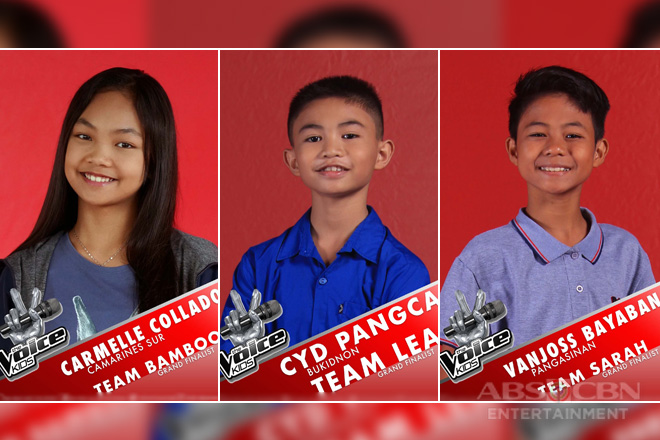 Carmelle, Cyd, and Vanjoss woo public for votes to become the The Voice Kids grand winner
