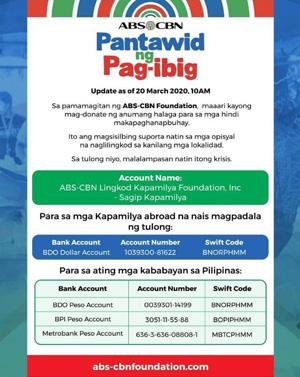 TV Patrol ABS CBN naglunsad ng kampanyang Pantawid Ng Pag ibig 1